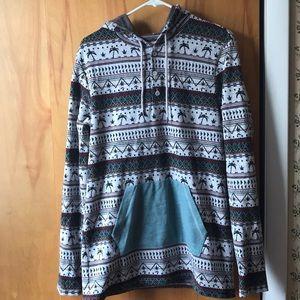 Men's Large Patterned Sweatshirt